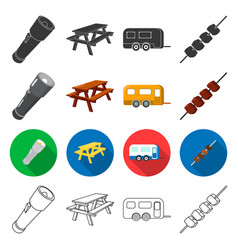 tourism transportation tools and other web icon vector image