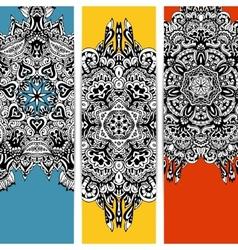 Trendy abstract ethnic banner vector