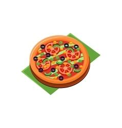 Vegetarian Full Pizza vector image
