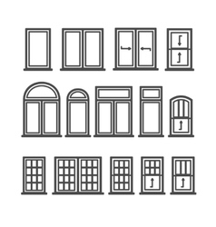 Window Icons Set vector image