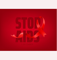 World aids awareness day concept stop aids vector