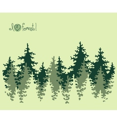 Abstract banner of coniferous forest vector image