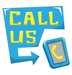 Call us vector image vector image