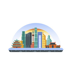 china icon in flat style vector image vector image