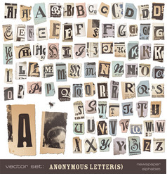 newspaper Alphabet vector image