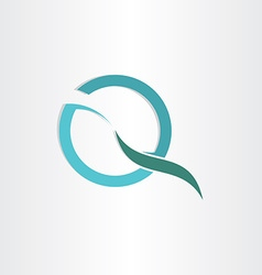stylized letter q business symbol vector image vector image