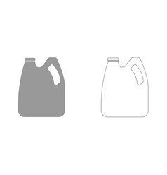 cans with engine oil and fuel it is icon vector image