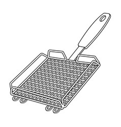 grill grillbbq single icon in outline style vector image