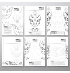 Pinstripe design backgrounds brochure flyer or vector