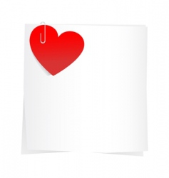 sticker and hearts vector image