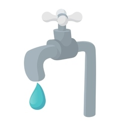 Water tap icon cartoon style vector image