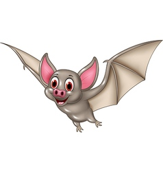 Bat cartoon flying isolated on white background vector image vector image