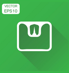 Bathroom scale weigher icon business concept vector