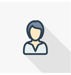 businesswoman lady avatar business thin line vector image vector image