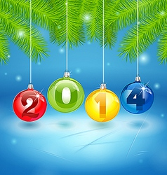 Christmas Tree Background with 2014 vector image vector image