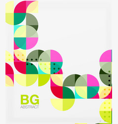 geometric circle abstract background vector image vector image