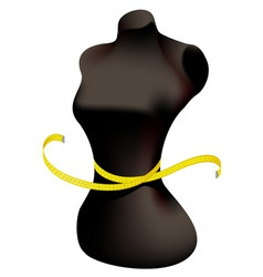 mannequin and measuring tape vector image vector image
