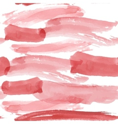 Red brush strokes seamless pattern on a white vector image vector image