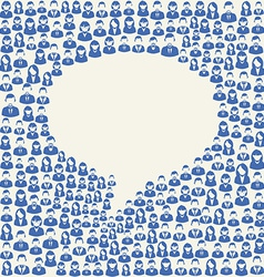 Social media user speech bubble vector image vector image