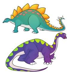 Stegosaurus apatosaurus vector