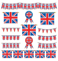 union jack banners vector image vector image