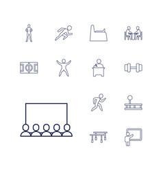 13 training icons vector