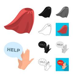 A fantastic superhero cartoonblackflat vector