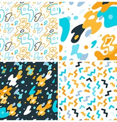 Abstract background and seamless patterns with vector