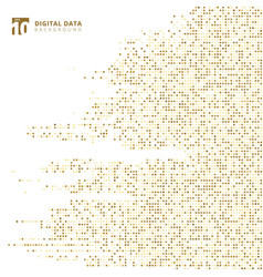 abstract technology digital data square gold vector image