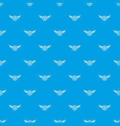 American dream pattern seamless blue vector