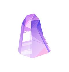 Amethyst gemstone or purple tourmaline crystal vector