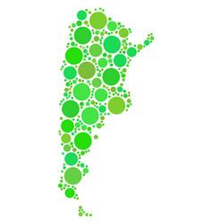 argentina map mosaic of dots vector image