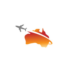Australia flight airplane logo vector