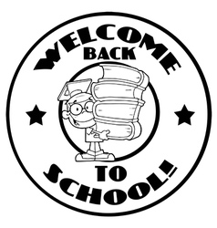 Back to school logo cartoon vector image