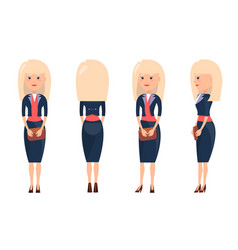 beauty blonde in business suit vector image