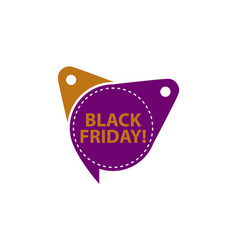 black friday tag template isolated vector image