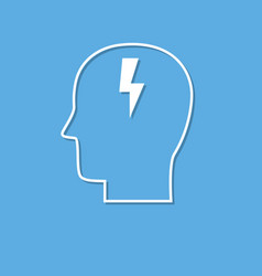 brainstorming icon cut from white paper vector image