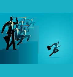 businessman who has taken action vector image