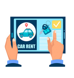 Car rent web site vector