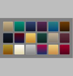 Collection of premium luxury gradient background vector