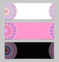 Colorful abstract floral mandala banner template vector