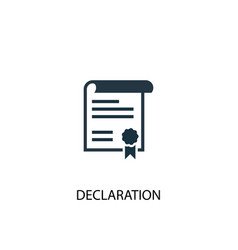 Declaration icon simple element vector