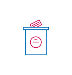 Elections voting outline colored icon can be used vector