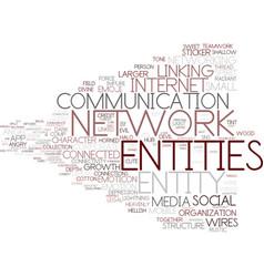 Entities word cloud concept vector