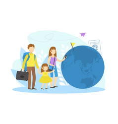family travelling on vacation mother father and vector image