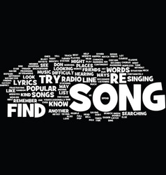 Find a song text background word cloud concept vector