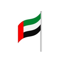 Flag of United Arab Emirates icon vector
