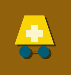 Flat icon design collection doctors face vector