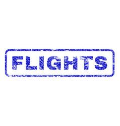 Flights rubber stamp vector
