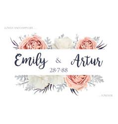 floral wedding invitation invite save date vector image